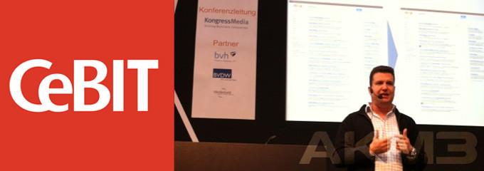 AKM3 beim eCommerce Forum der CeBIT 2012
