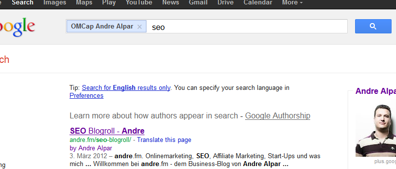 Authorship Andre
