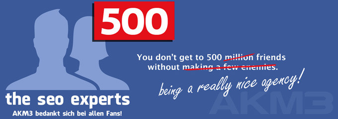 500 Facebookfans