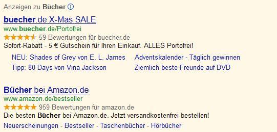 Käuferbewertung SEM Google