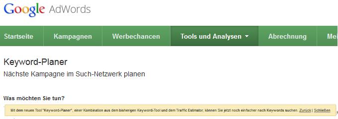 header-keyword-planer