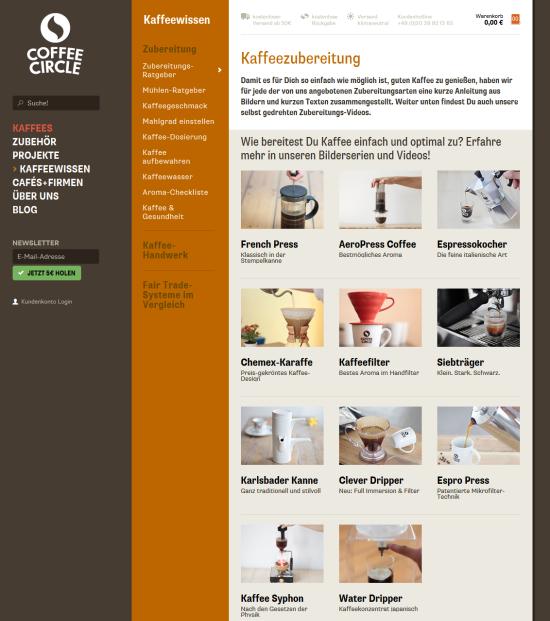 Coffee Circle Kaffee Zubereitung