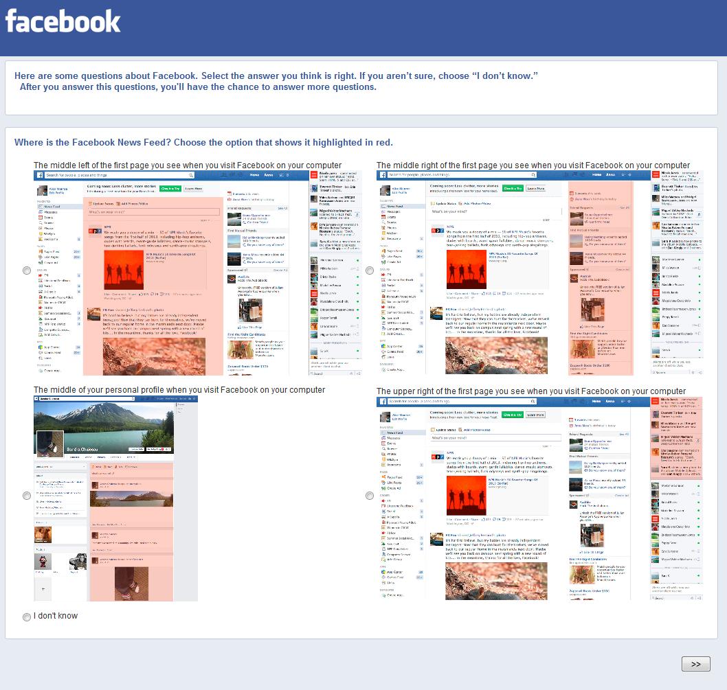 Facebook Umfrage Stream