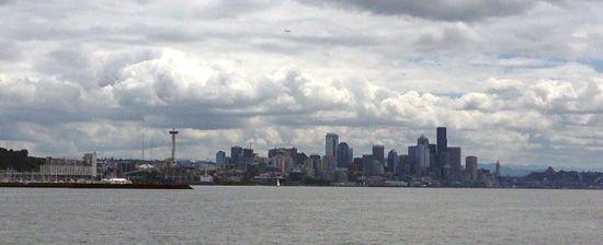 Seattle in Wolken bei der SMX