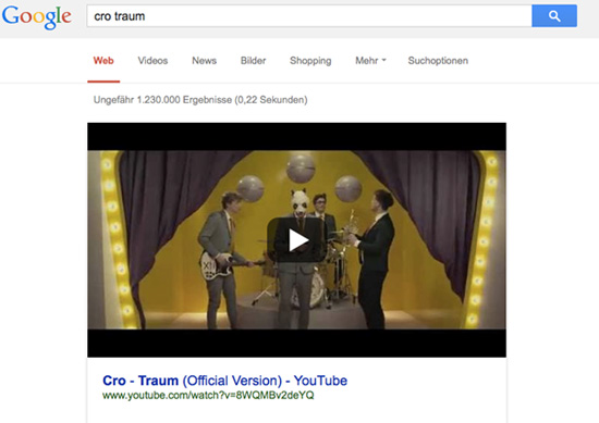Youtube Search Cro Traum