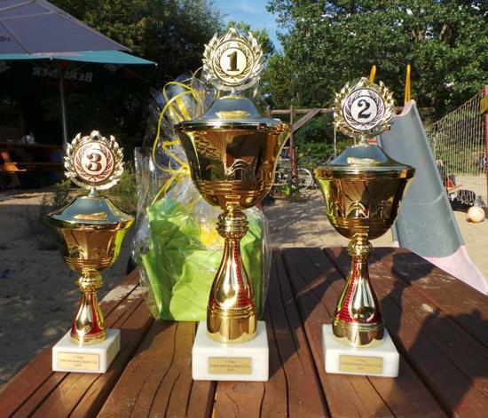Online Marketing Beachvolleyball Cup Pokale
