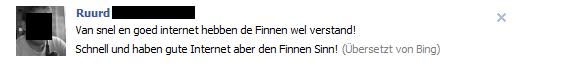 Bing Übersetzung bei Facebook