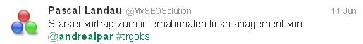 Tweet Pascal Landau